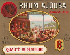 ***  ETIQUETTE RHUM ****  RHUM   Adjouba 70cl - Rhum