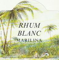 ***  ETIQUETTE RHUM ****  RHUM   Blanc Marilina Par Poyenne LORMONT - Rhum