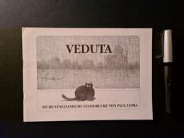 Paul Flora: Veduta – Sechs Venezianiche Steindrucke, 8seitige Broschüre - Painting & Sculpting