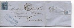 REF3398/ TP 15 S/LAC Hauchamps, Smith & Cie C.BXL (Nord) 1865 LOS PTS 63 > Gosselies C.d'arrivée - Oblitérations à Points