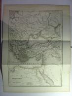 GRAVURE ANCIENNE De 1845 - CARTE EMPIRE ROMAIN PARTIE ORIENTALE - ATLAS DE ROLLIN Par AH DUFOUR 1839 - 26cm X 36cm - Carte Geographique