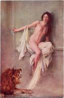 Dans L'Arène Par COURSELLES DUMONT - Salons De Paris - NU EROTISME - Lion - Unclassified