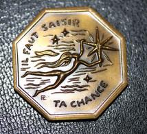 """Beau Jeton De Voeux Bronze """"Il Faut Saisir Ta Chance / Voeux Les Plus Vifs"""" Monnaie De Paris - Professionnels / De Société"""