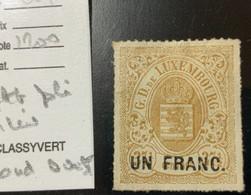 LUXEMBOURG : N°24 Neuf. Cote : 1200€. Petite Fente (pli?) Milieu Bord Ouest. - Sin Clasificación