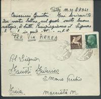 § BUSTA Con LETTERA PM 32 DIV MARCHE 16°GRP Da 149\ 35 A A 48° BATTERIA X TREIA  MACERATA   § - War 1939-45