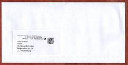 Brief, Mit Inhalt, Mhplus Ludwigsburg, DV 02.21, 80 C, Datamatrix, Posthorn (3501) - Machine Stamps (ATM)