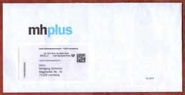 Brief, Mit Inhalt, Mhplus Ludwigsburg, DV 02.21, 80 C, Datamatrix, Posthorn (3502) - Machine Stamps (ATM)