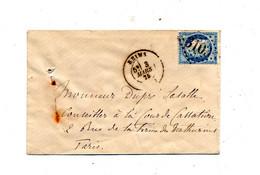 Lettre Cachet  Reims Losange Sur Ceres - 1849-1876: Classic Period