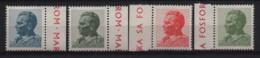 2687 Yugoslavia 1974 MARSHAL TITO Phosphor Paper Shiny Gum, Mich.#1551-54yA MNH - Neufs