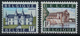 België 1423P3/24P3 ** - Kasteel Van Spontin - Menenpoort Ieper - FOSFORESCEREND Papier - PHOSPHORESCENT - Ongebruikt