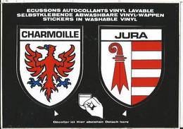 CPSM -- Blason - Autocollant- Suisse - Schweiz - Jura - Charmoille - JU Jura