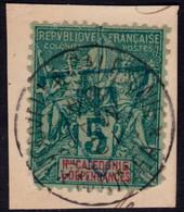 "✔️ Nouvelle Calédonie 1894/1900 - Taxe Surcharge ""T Dans Triangle"" Sur Fragment - Yv. 1B (o) - €140  Rare ! - Postage Due"
