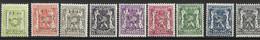 België 1/1/1944 Typo Nr. 511/519 Postfris (mnh) - Typografisch 1936-51 (Klein Staatswapen)