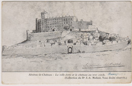 D12 - SEVERAC LE CHÂTEAU : LA VILLE FORTE ET LE CHÂTEAU AU XVIIe Siècle-ILLUSTRATION Sévériaco Lo Castel ?? - Altri Comuni