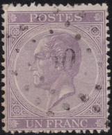 Belgie   .   OBP    .   21  (2 Scans)        .      O         . Gebruikt      . /   .     Oblitéré - 1865-1866 Profil Gauche