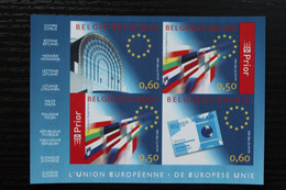 Jaar 2004: BL105 'Europese Unie' - Ongetand Met Nummer - Zeer Mooi! - Imperforates