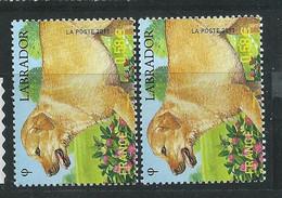 [42] Variété : N° 4545 Labrador Pelage Clair + Normal ** - Variétés: 2010-.. Neufs