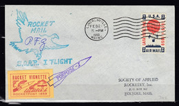 Brief Van U.S.A. Lincolnville Maine Naar Holyoke Mass Rocket Vignette Rocketpost 1959 30 C2 - USA