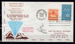 Brief Van Olympic Valley Calif. Naar Fund For Rocket Education 1960 - USA