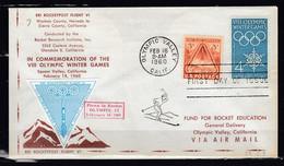 Brief Van Olympic Valley Calif. Naar Fund For Rocket Education 1960 29C2 - USA
