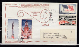 Brief Van Nipton Calif. Naar New Jersey Rocket Flight 23 C1 - USA