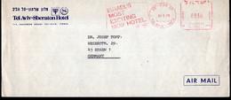 Israel - 1978 - Letter - Mechanical Postmark - Tel-Aviv Sheraton Hotel - Air Mail - A1RR2 - Cartas