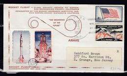 Brief Van Nipton Calif. Naar New Jersey Rocket Flight 23 C1A - USA