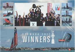 NEW ZEALAND, 2017, MNH, KIWI ROAD SAILING, AMERICA'S DUP WINNERS, SHEETLET - Vela