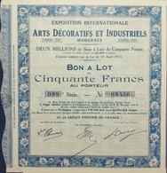 Expo. Int. ARTS DÉCORATIFS Et INDUSTRIELS 1923 Deco! - Tickets - Entradas