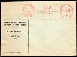 Portugal - 1961 - Letter - Mechanical Postmark - Compahha Dos Caminhos De Ferro Portugueses - Air Mail - A1RR2 - Briefe U. Dokumente