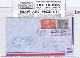 Ireland Airmail 1961 Aer Lingus 25th Anniversary Flight, United Nations Franking, Green IRISH INTERNATIONAL AIRLINES - Airmail