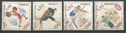 Timbre Monaco En Oblitere  N 654/657 Séries Compléte - Used Stamps