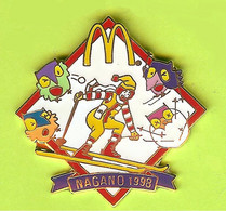 Pin's Mac Do McDonald's JO Jeux Olympiques Nagano Mascottes Ronald Ski - 8H07 - McDonald's