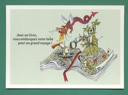 Avec Un Livre ( Dragon, Ile, Girafe, Sirène ) - Unclassified
