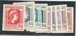 N° 644 (Mariane D'Alger , 4f50), Lot De 9 Essais De Couleur (couleurs , Voir Scan) ND  ** - 1944 Coq Et Marianne D'Alger