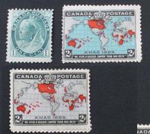 Canada 1898 Yvert 63 73 73a Neufs - Oblitérés
