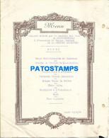 152919 ARGENTINA - FRANCE TRAVEL THE MISSION BANQUET SOCIETE DES EAUX CONTREXEVILLE YEAR 1930 MENU NO POSTAL POSTCARD - Menú