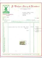 1957 FACTUUR FACTURE CONFECTIE GEWEEFSELS KANTEN P.S.K.A. POLLET SERRY AARTRIJKE H.R. OOSTENDE MOLEN MOULIN WINDMILL - Textile & Clothing