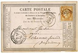 ALLIER CPP REPIQUE PAR MARQUE A SEC 1875 REPIQUAGE MR O.MEILLET AVOUE SUCC DE M OLVIELE MONTLUCON MARQUE A SEC SUR TIMBR - 1849-1876: Classic Period