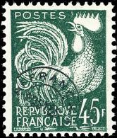FRANCE 1957 - Yv.Préo 117 45fr Vert Foncé Coq Gaulois Neuf * - Nuevos