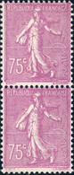FRANCE 1926 - Yv.202 Paire 75c Lilas-rose - Neufs ** - 1903-60 Sower - Ligned