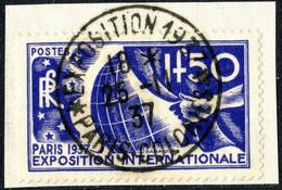 """FRANCE 1937 - CàD """" EXPOSITION 1937 * PARIS-COLONIES * """" Sur Yv.327 / Mi.333 - 1921-1960: Modern Tijdperk"""