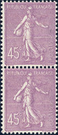 FRANCE 1926 - Yv.197 Paire 45c Lilas - Neufs ** - 1903-60 Sower - Ligned