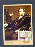 ROMANIA  MAXIM CARDS IBSEN MNH - Maximumkaarten