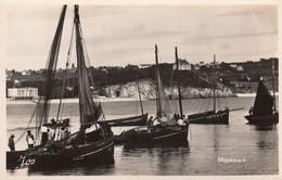 Morgat.  Le Port. Bateaux De Pêcheurs Séchant Leurs Filets Bleus - Morgat