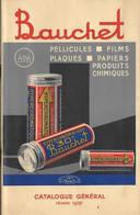 Catalogue 1937 - BAUCHET - Pellicules Films Plaques Papier - Photographie - - Bobinas De Cine: 35mm - 16mm - 9,5+8+S8mm