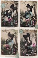 (10/02/21) FANTAISIES ALSACE-CPA FLEURS D'ALSACE - SERIE DE 6 CARTES - COIFFE ALSACIENNE - Women