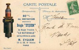 """CPA - La Bougie Tricolore EYQUEM - """"la Nationale"""" Sur Citation à L'ordre Du Corps D'armée - Croix De Vermeil - 2 Scans - - Other"""