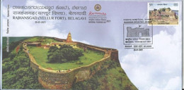 Special Cover, Rajhansgad (Yellur Fort) On A Hillock, Belagavi, National Tourism Day, - Cartas