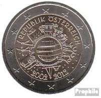 Österreich 2012 Stgl./unzirkuliert 2012 2 Euro 10 Jahre EURO Bargeld - Austria